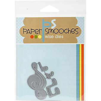 Paper Smooches Die-Music Notes DED295