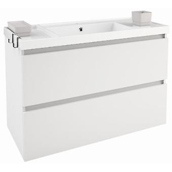 Bath+ Sink cabinet 2 Drawers With Matt White 100cm Brightness