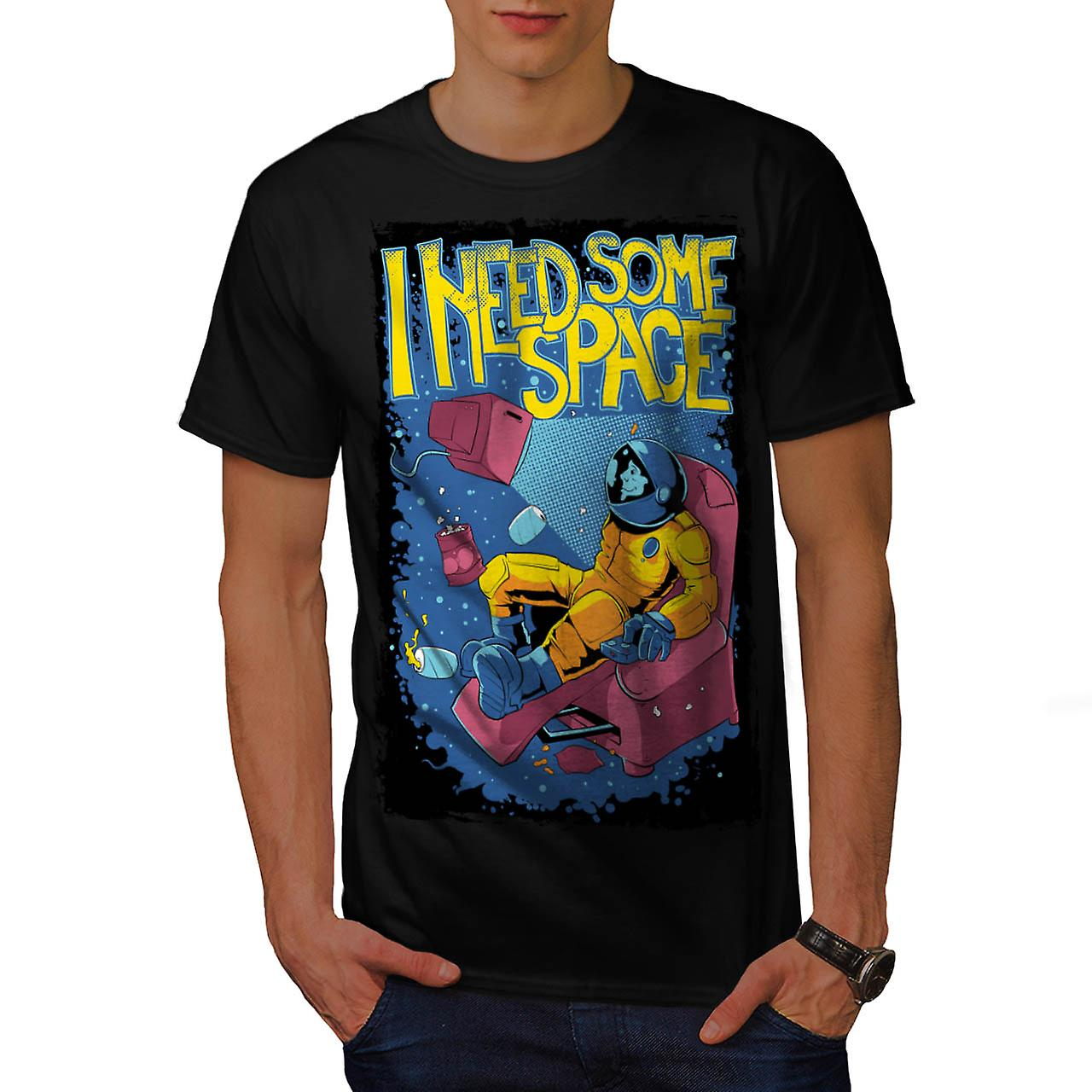Need Space Astronaut Moon Walk Men Black T-shirt | Wellcoda