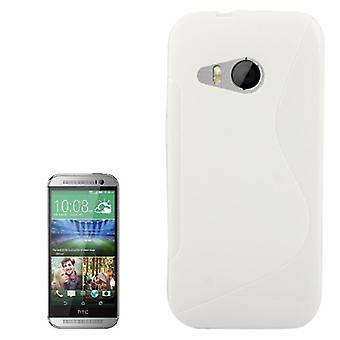 Mobile case TPU protective case for HTC one mini 2 white