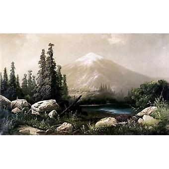 Mount Shasta California Poster Print by  Thomas Hill