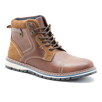 Red Tape Bisham Tan Leather Mens Worker Chukka Boots