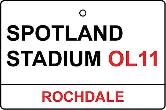 Rochdale / Spotland Stadium Street Sign Car Air Freshener
