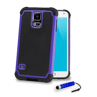 Shock Proof Case + Stift für Samsung Galaxy S5 (SM-G900) - Deep Blue