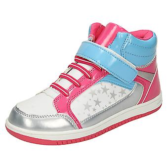 Girls Airtech Lace Up Hi-Top Trainers