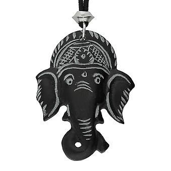 Hand gesneden Lord Ganesha steen hanger ~ Demolisher van obstakels