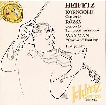 Jascha Heifetz - Korngold: Concierto; R Zsa: Concierto; Tema Con Variazioni; Waxman: Importación de Estados Unidos Carmen Fantasy [CD]
