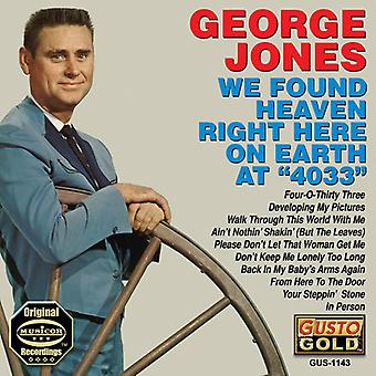 George Jones - We Found Heaven Right Here on Earth at 4033 [CD] USA import