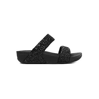 FitFlop Women's Glitterball Slide Sandals - Black