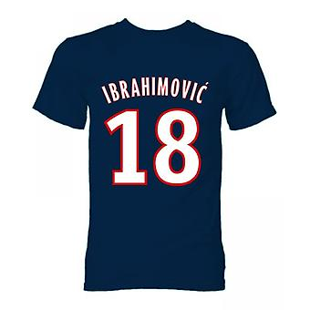 Zlatan Ibrahimovic PSG-Held-T-Shirt (Navy)
