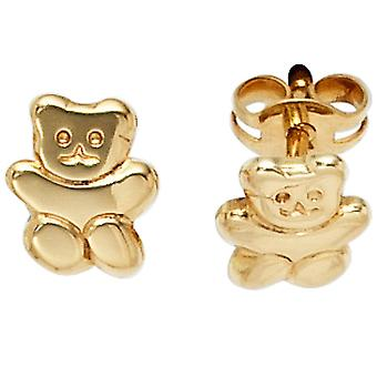 Children earrings TEDDY 333 gold yellow gold children earrings, children's jewellery