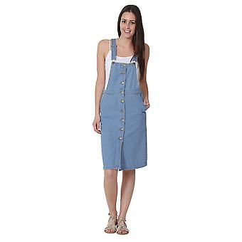 Button front Dungaree Dress Bib overall Dress
