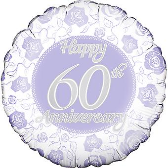 Oaktree 18 Inch Circle Happy 60th Anniversary Foil Balloon