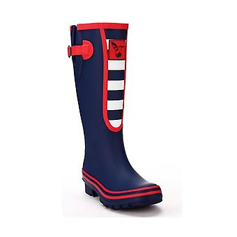 Womens Breton Style Wellies Blue - Evercreatures