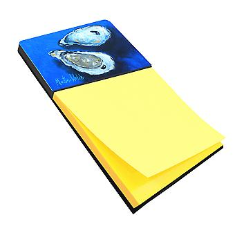 Oysters Seafood Four Refiillable Sticky Note Holder or Postit Note Dispenser