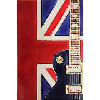 YH Arts Ceramic Wall Art, UK Music 8 x 12