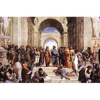 Schule von Athen-Poster-Plakat-Druck von Raphael
