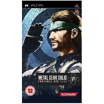 Metal Gear Solid Portable Ops Plus PSP spil