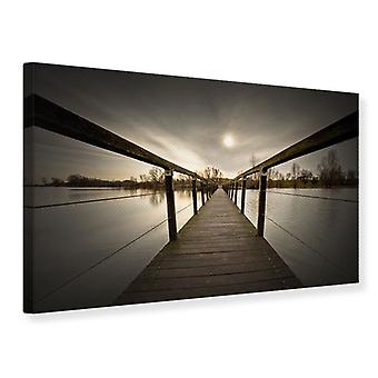 Canvas Print The Wooden Bridge