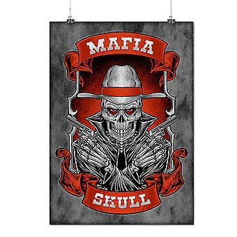 Matte or Glossy Poster with Mafia Skull Cool Gangster | Wellcoda | *d2634
