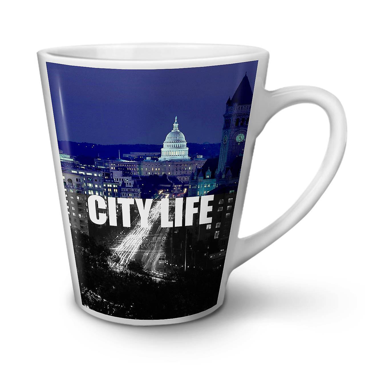 Blanc Café Mug 12 Latte City Thé En OzWellcoda Nouveau Céramique Nuit Life WHIE9D2