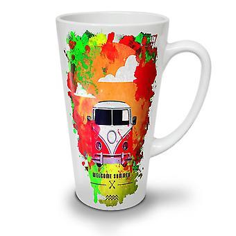 Welcome Summer Holiday NEW White Tea Coffee Ceramic Latte Mug 17 oz | Wellcoda