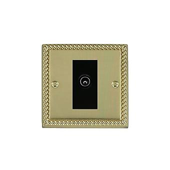Hamilton Litestat Cheriton Georgian Polished Brass 1g Non-Isolated TV (Male)BL