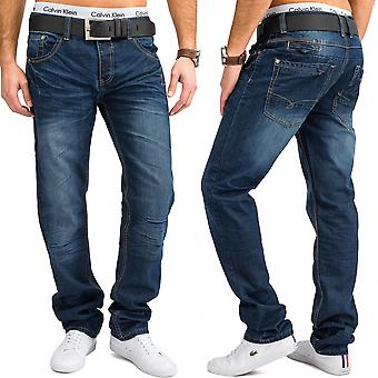 Men's slim jeans Blau ZAC stone Wasched five Pocket jeans trousers W34 - W44