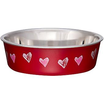 Bella Bowl Expressions-Large-Hearts - Valentine Red LP7720