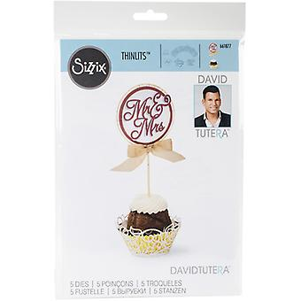 Sizzix Thinlits Dies By David Tutera 5/Pkg -Cupcake Wrapper & Toppers 661877