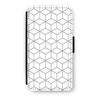 Samsung Galaxy S6 Edge Flip Case - kubussen zwart-wit
