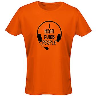 I Hear Dumb People Womens T-Shirt 8 Colours (8-20) by swagwear