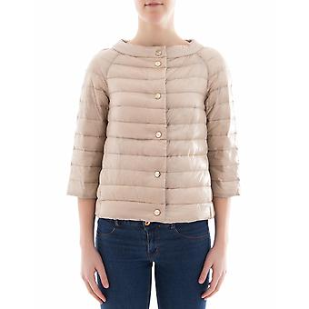Herno women's PI0769D120174008 beige nylon Quilted Jacket
