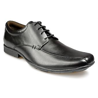 Pod Boys Black Leather Lace Up Formal School Shoes