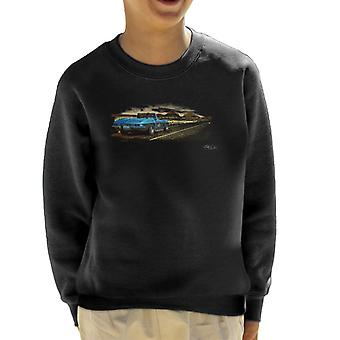 Chevrolet Corvette Stingray Convertible Desert Art Black Kid's Sweatshirt
