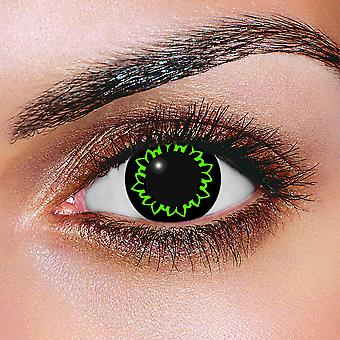 Big Eye Butterfly Green Contact Lenses (Pair)