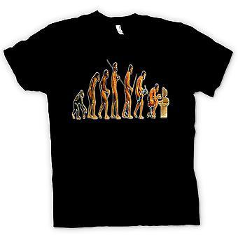 Womens T-shirt - Mans Evolution - grappig