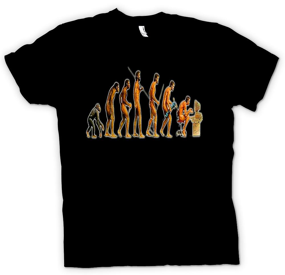Womens T-shirt - Mans Evolution - lustig
