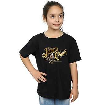 Johnny Cash Girls Cash Font T-Shirt