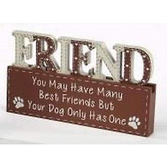 Dog Word Block - Friend