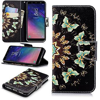 Per Huawei Y6 2018 in pelle sintetica libro tascabile motivo 43 protezione custodia/cover custodia nuovo