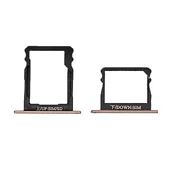 For Huawei P8 Double SIM Card Tray - Gold