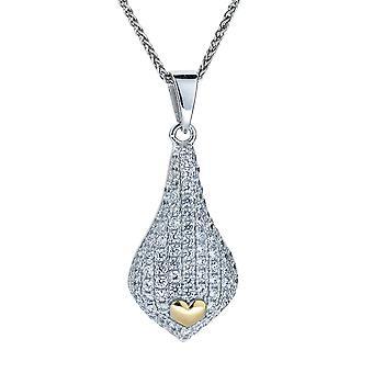 Orphelia srebro 925 wisior z łańcucha i złoto pozłacane cyrkonu ZH-4880