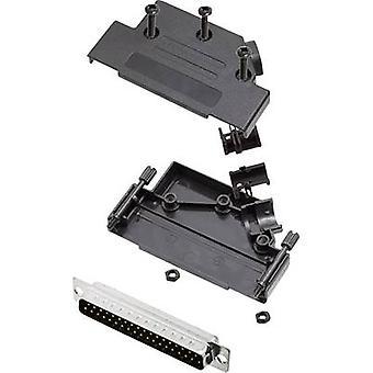 D-SUB pin strip set 45 ° Number of pins: 37 Solder bucket encitech D45PK-P-37-DBP-K 1 Set