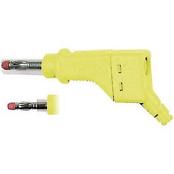 Stäubli XZGL-425 Straight blade plug Plug, straight Pin diameter: 4 mm Yellow 1 pc(s)