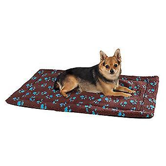 Slumber Pet Thermapet Paw Print Crate Mat Med/Lrg Brown