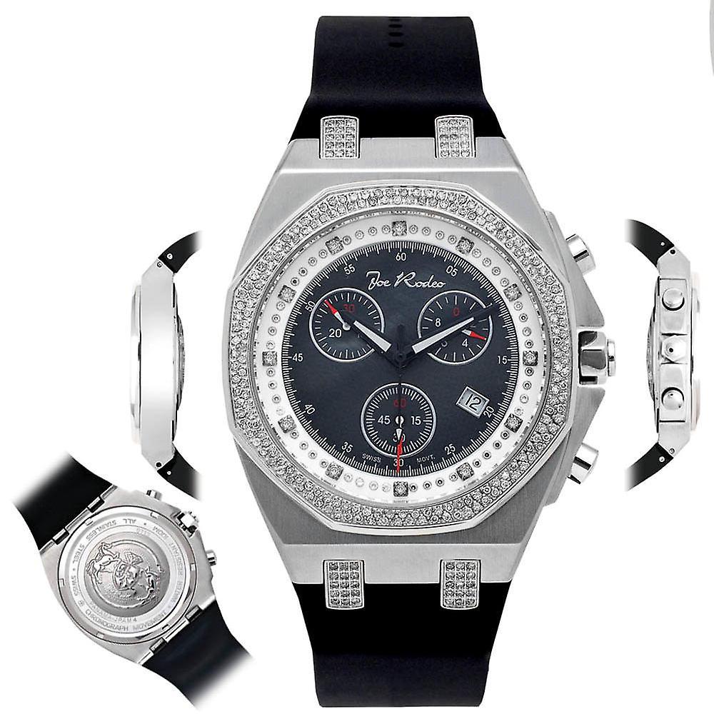 Nieuw Joe Rodeo diamant mannen horloge - PANAMA zilveren 2.15 ctw | Fruugo IT-11