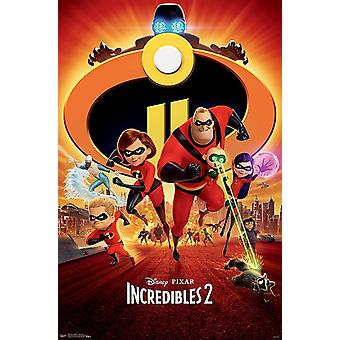 The Incredibles 2 - One Sheet Poster Print