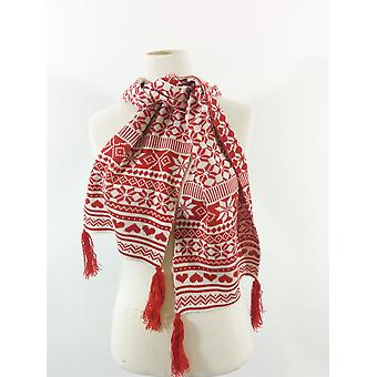 Genuine Fraas Fashion  Scarf -Soft Warm Winter Christmas Pattern Red/Purple/Blue Men Ladies