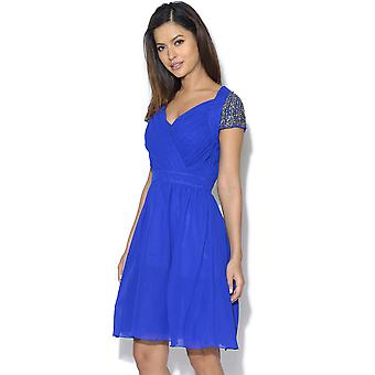 Little Blue maîtresse exposés dos embellie Prom Dress